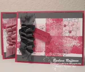 Scrunchy Ribbon & Acrylic Color Blocking Technique