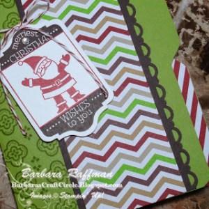 File Folder Santa Card – Envelope Punch Board