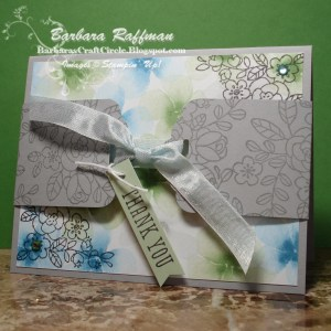 Scalloped Tag Topper Used as a Card Belly Band