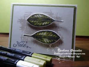 Stampin' Blends – Just a Note Card