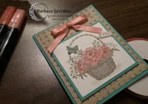 Basket Weave folder card.