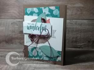 Wonderful make and take card from OnStage Stampin' Up! 2018