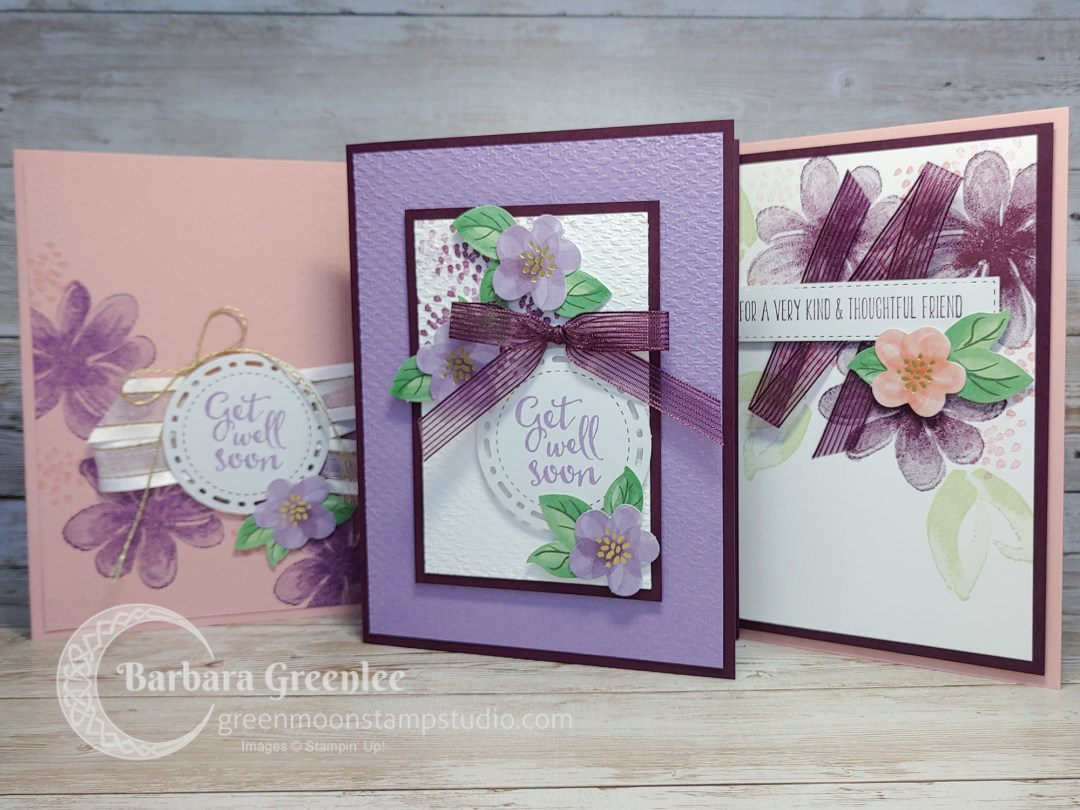 Gorgeous Posies Card Kit by Stampin' Up!  More designs with the leftovers.