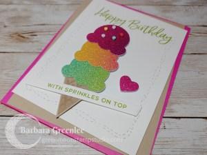 Rainbow Whimsy Ice Cream Card