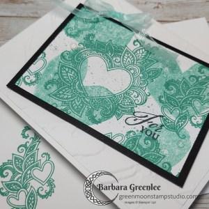 Simple Henna Hearts Card