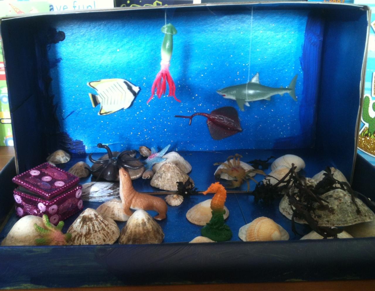 Mini Aquarium And Other Ocean Crafts For Children