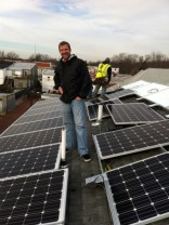 Andrew with his new solar panels