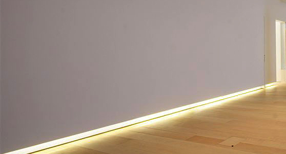 vinson aluminum baseboards with light
