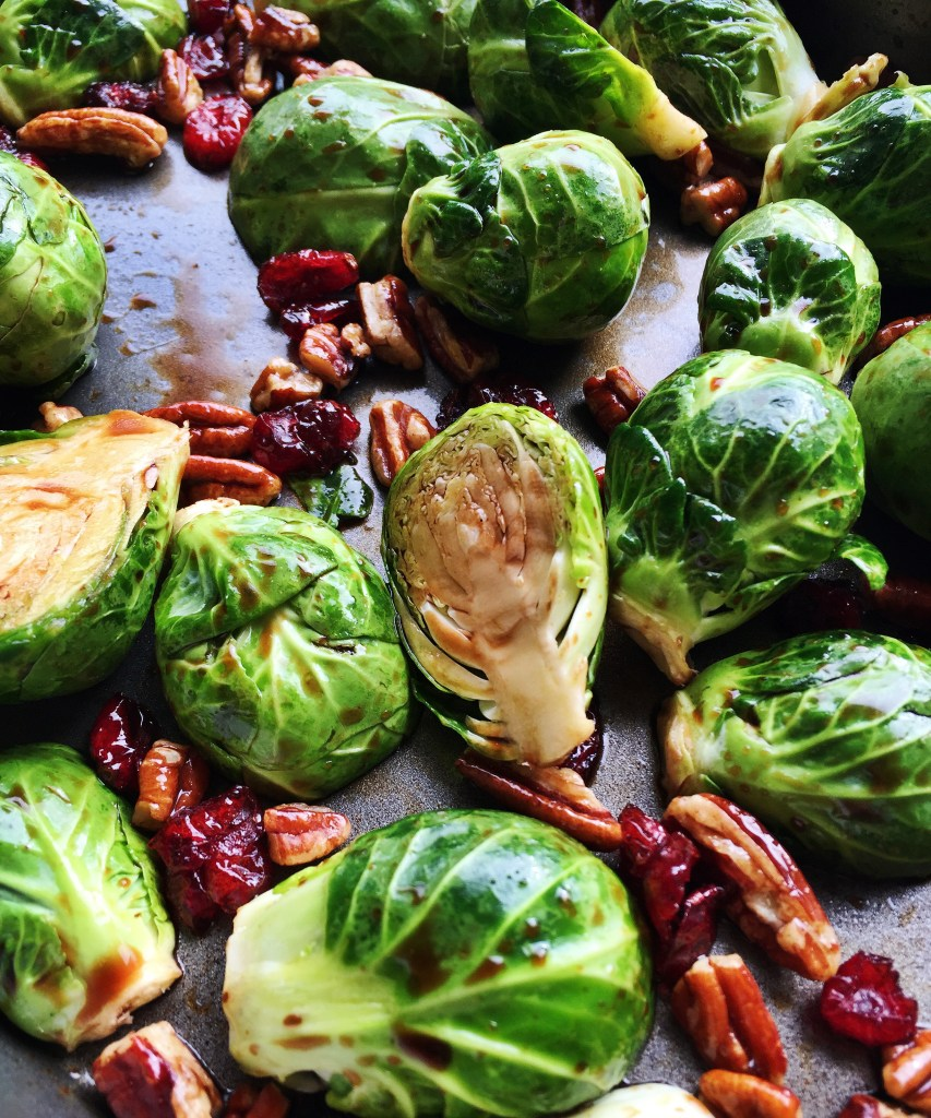 Roasted Balsamic Glazed Brussels Sprouts