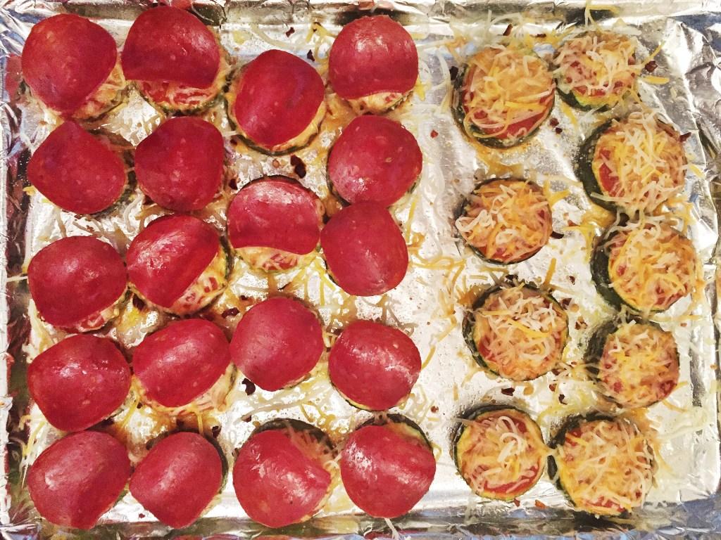 Zucchini Pizza Bites - healthy tailgating food