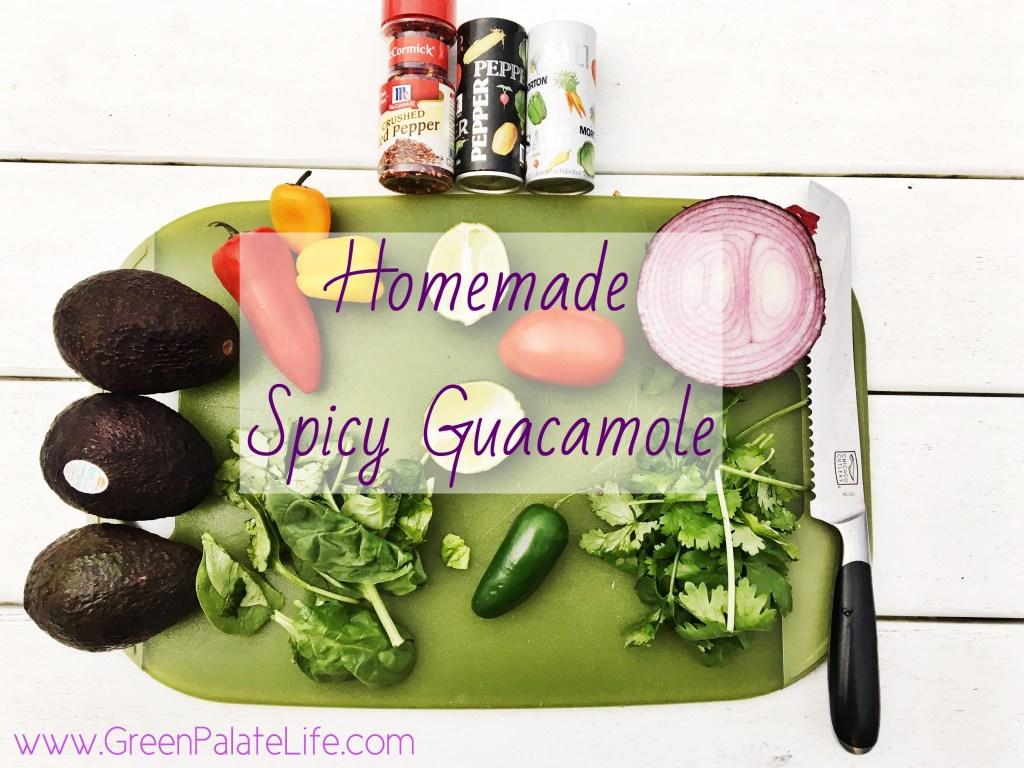 Homemade Spicy Guacamole