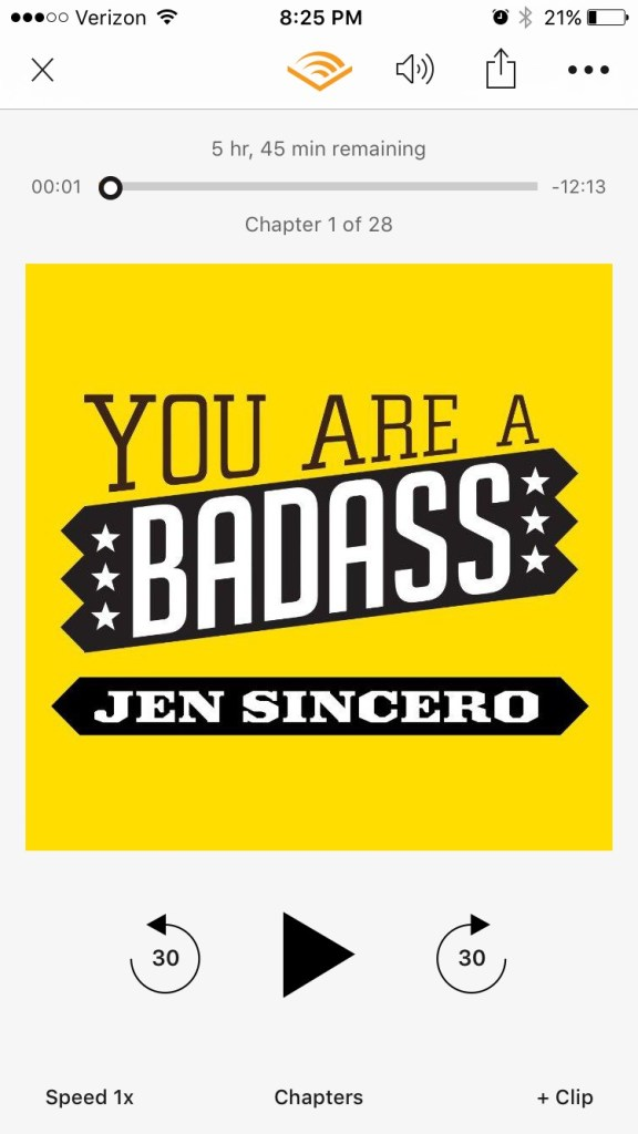 What I'm Listening to on Audible || sharing my thoughts and insights on the audio book, You are a Badass by Jen Sincero