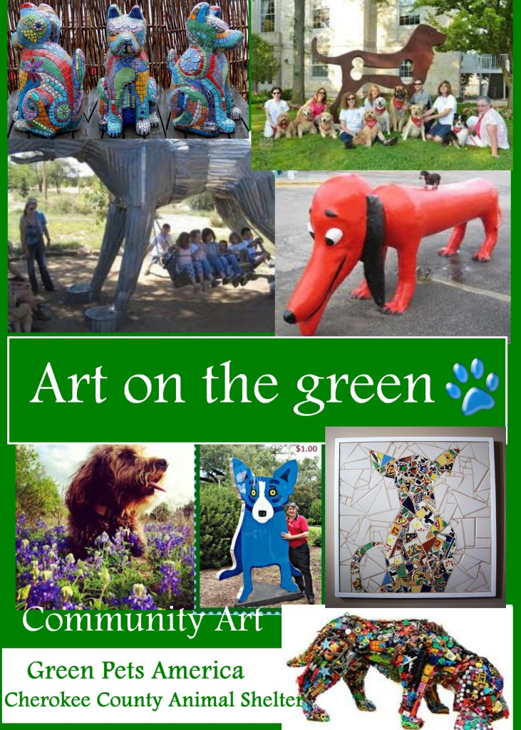 green pets america animal shelter art