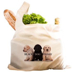 black_dog_friday_reusable_shopping_bag
