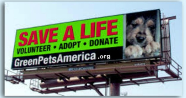 SAVE A LIFE Cause Marketing program between Green Pets America and Clear Channel