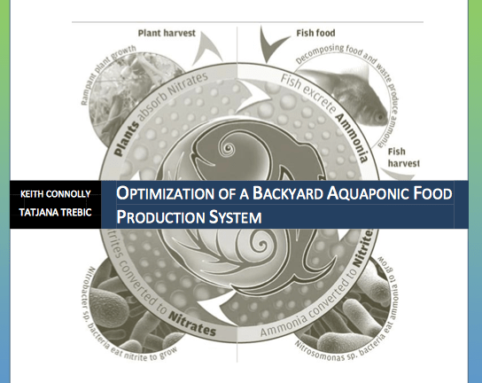 Optimization of a Backyard Aquaponic Food Production System