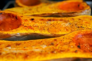 Butternut squash roasted
