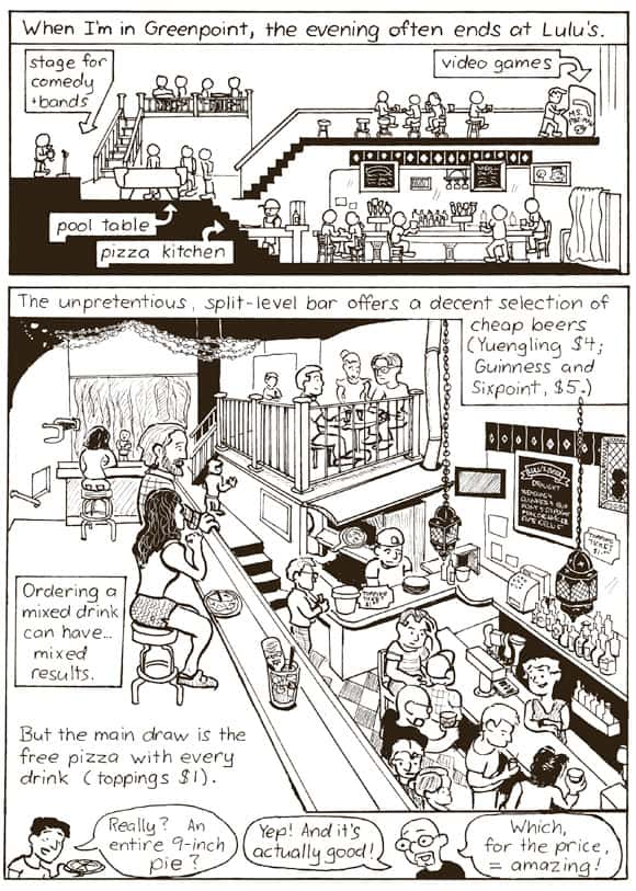 Lulu's Bar Cartoon