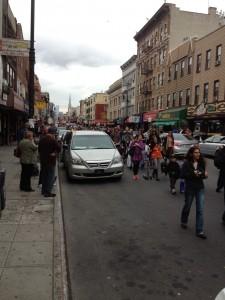 Marching down Manhattan Avenue