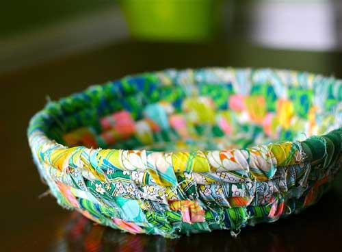 scrap fabric bowl