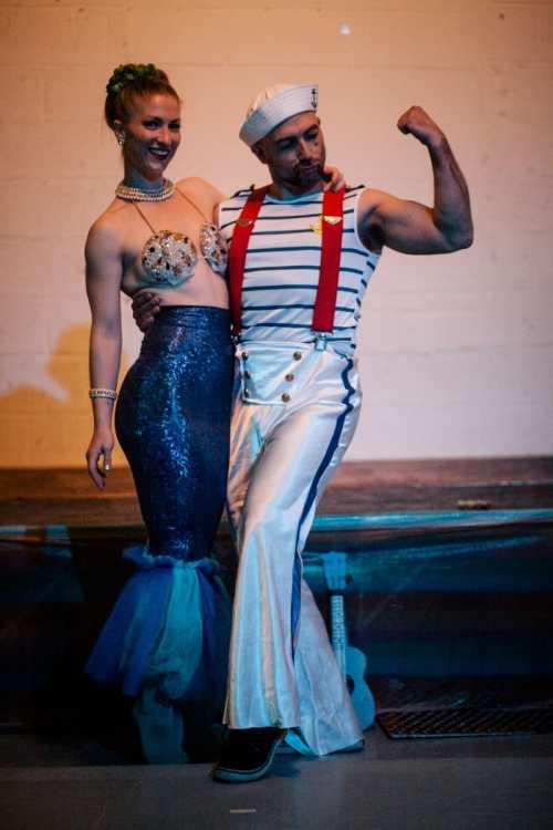 Poppy Tart & Gogo Gadget as Nearly Naked Mermaid & Sailor c/o Sam Polcer