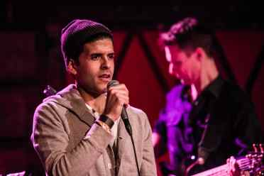 © Leonardo Mascaro. Sachal performing songs from his then forthcoming album to a full house at Rockwood Music Hall on January 10, 2015.