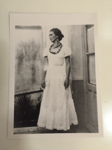 Courtesy of Nandi Rose Plunkett. An image of Frida Kahlo taped to Plunkett's door from neighbor Emily Chapman.