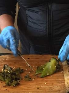 NYC Hot Sauce team preps roasted chiles