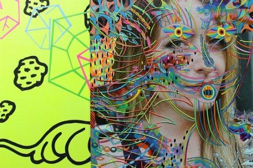 Mixed media portrait by Dex Fernandez