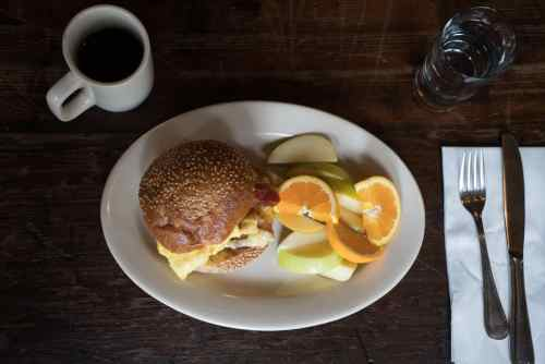 Roebling Tea Rom - Food - Bacon Egg and Cheese - By Douglas Lyle Thompson