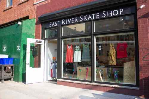 East River Skate Shop on Greenpoint Avenue (Photo credit: Nicole Disser)