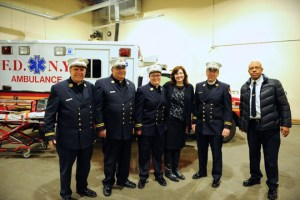 Ann Kansfield, the first female and openly gay FDNY Chaplain.  Photo credit: on.nyc.gov