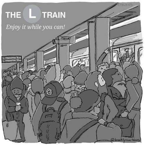 L Train Illustration via @brooklyncartoons Instagram