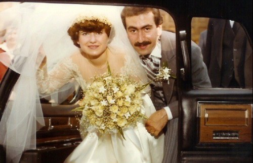Paulie and Mary Ann on their wedding day