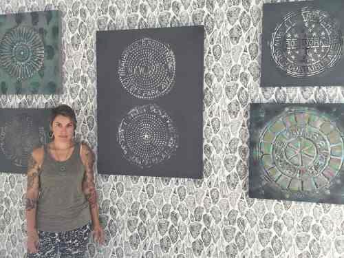 Sarah Merenda with works