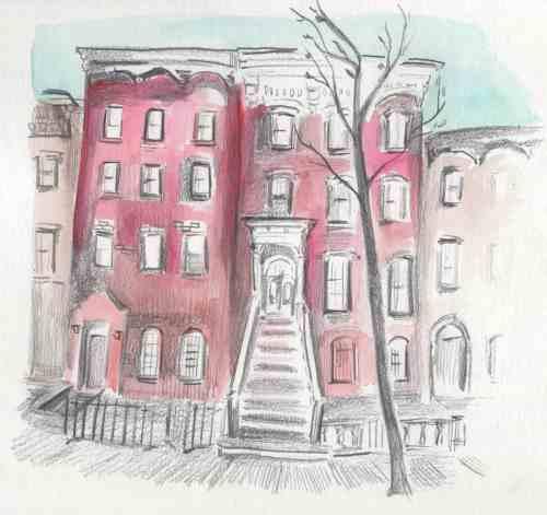 130 Kent Street, illustration by Aubrey Nolan