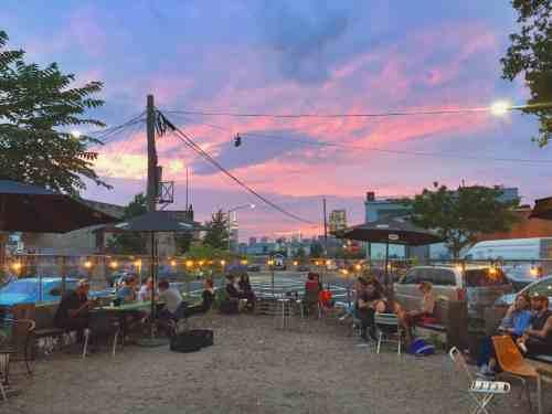 Sunset at The Lot Radio. Photo: Megan Penmann