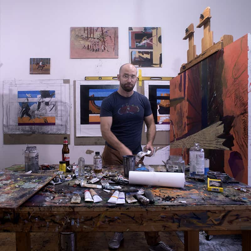 Aaron Zulpo in his Greenpoint studio. Photo: Ian Hartsoe
