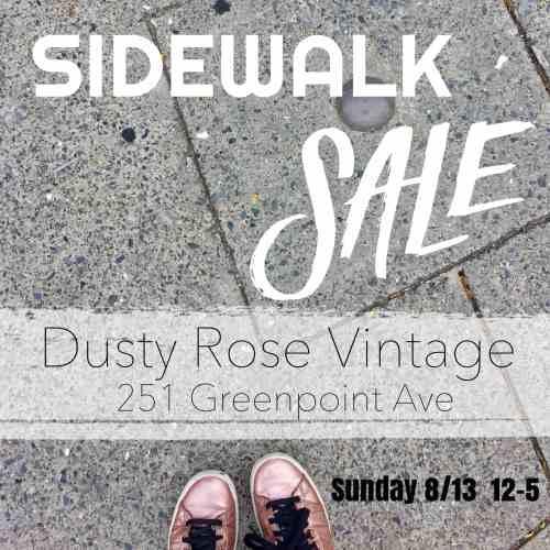 Dusty Rose Vintage sidewalk sale