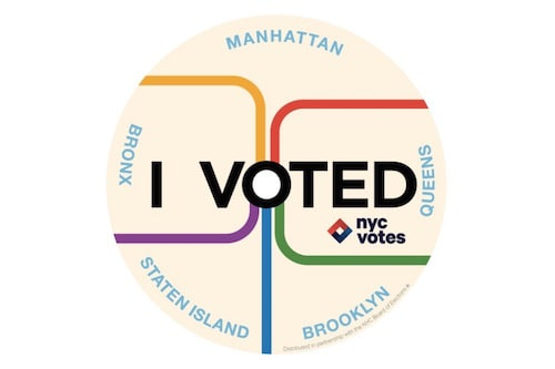"""Get Your """"I Voted"""" Sticker September 12th! via DNAinfo"""
