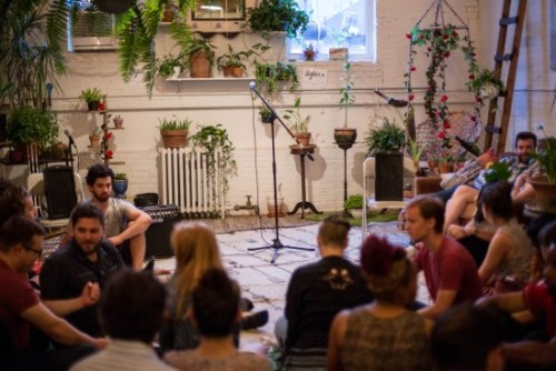 Sofar Sounds concert at the Brooklyn Home of Music in Greenpoint on July 8, 2017. (Photo courtesy of Sofar Sounds NYC)