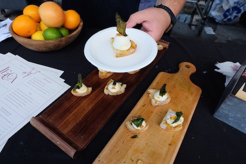 A taste of Leuca at the William Vale. Photo by Julia Moak