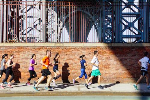 On the Run in Brooklyn. Via the Brooklyn Greenway Initiative