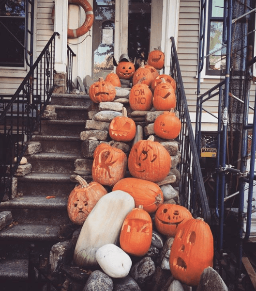 Epic display of jack-o-lanterns on Java Street. Photo by Megan Penmann