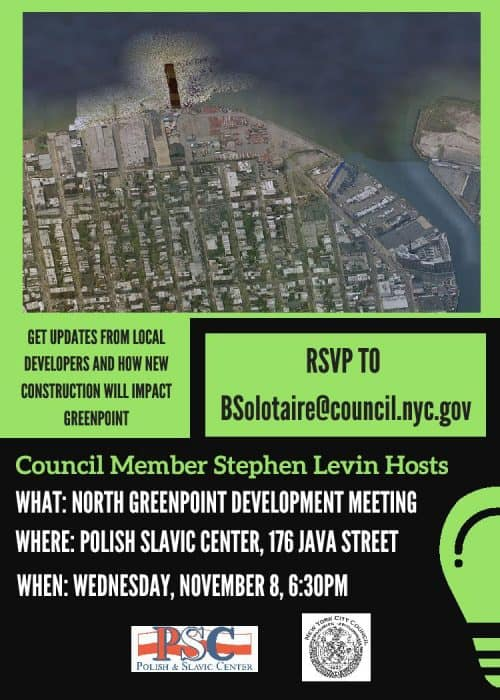 North Greenpoint Development Meeting Poster
