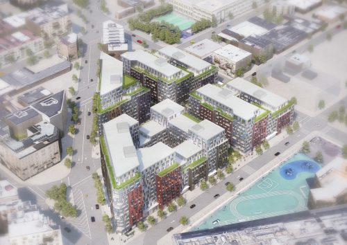 A rendering for the Pfzier Rezoning Plan
