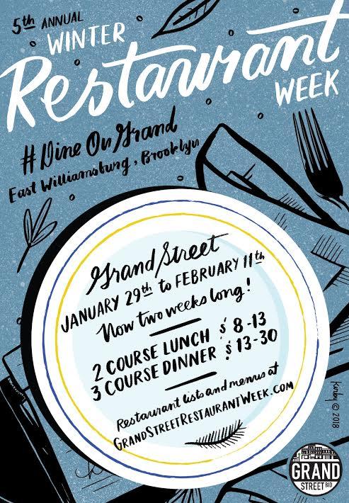 Grand Street Restaurant Week 2018