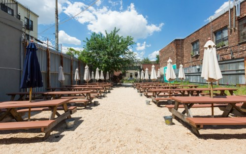 t.b.d.'s insanely huge beer garden. We hope another bar takes over this incredible space. Photo via t.b.d.