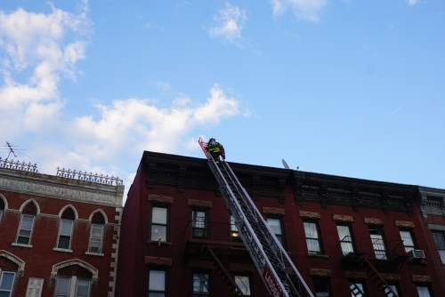 Fire on Manhattan Ave. Photo: Ruganzu Howard