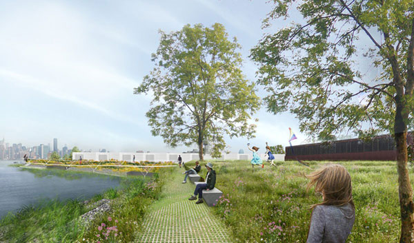 A rendering of the Monitor Museum restored shoreline, via Brooklyn Paper in 2015